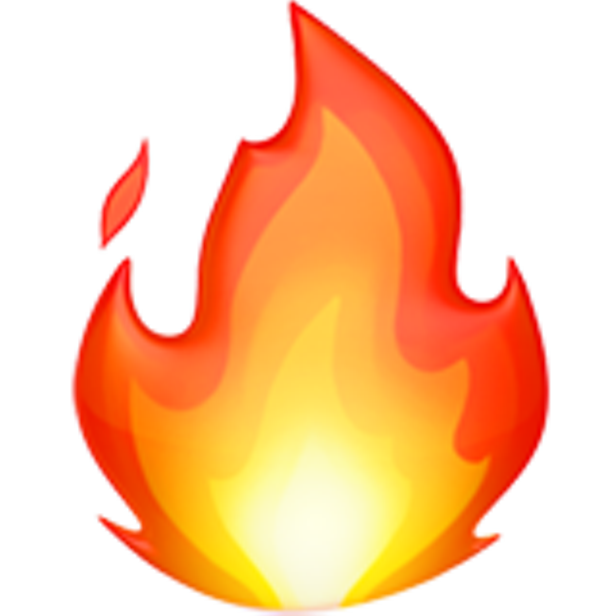 Apple emoji png download. Color fire symbol letter