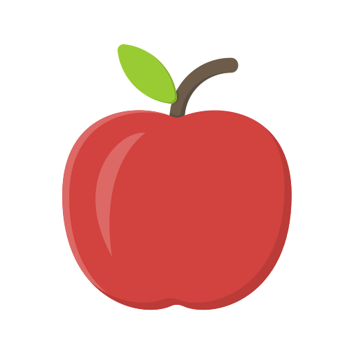 Apple fruit icon png. Free of education flat