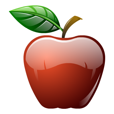 Apple fruit icon png.