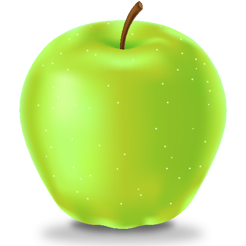 Apple green png. Icon fruits svg vector
