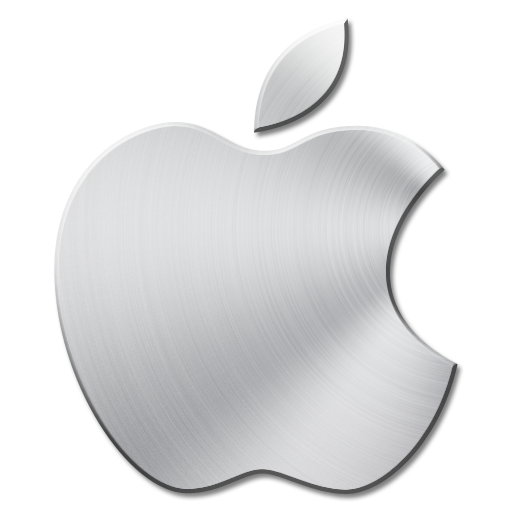Apple icon png. Brushed metal icons by