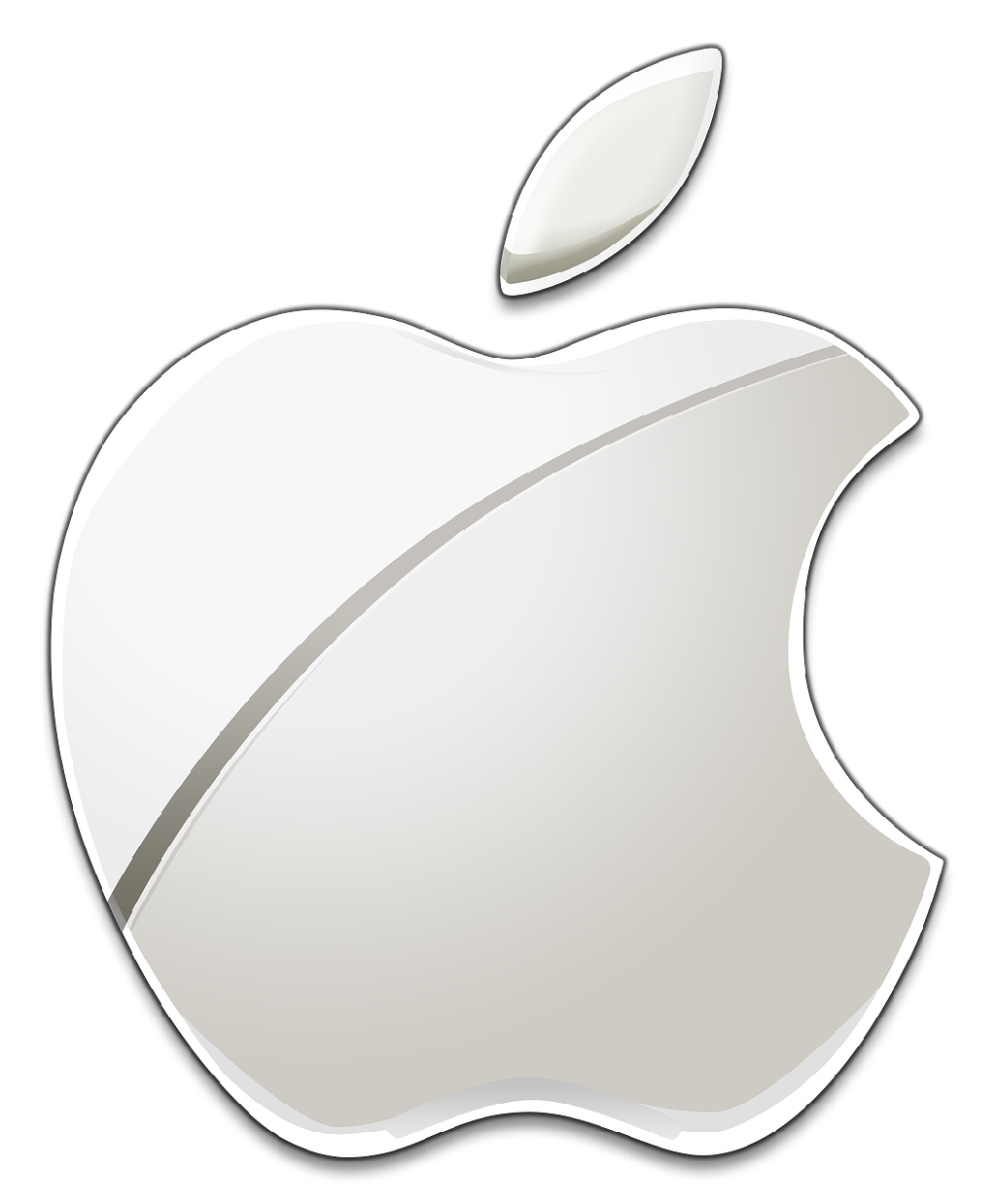 white apple logo png
