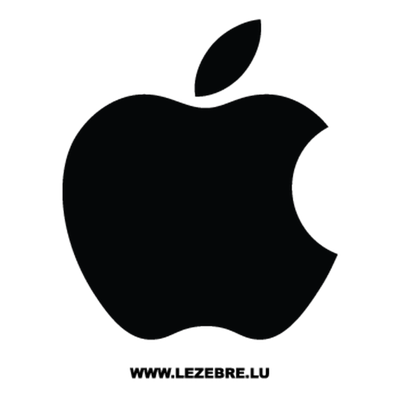 Apple logo png white. Mac decal
