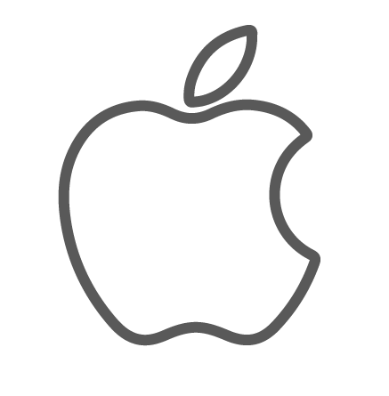 Apple logo png white. Image of clipart outline