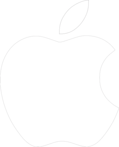 Apple logo png white. Clip art at clker