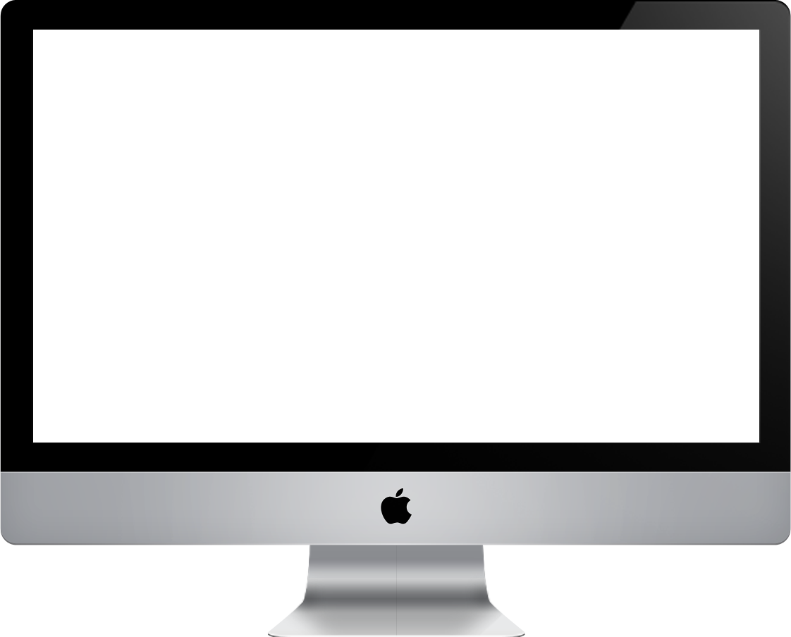 Apple monitor png. Mac computer screen transparent