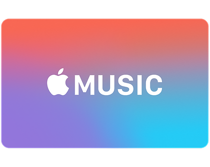 Apple music png. Gift cards card preview