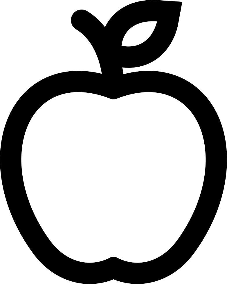Pair of apples outline png. Apple svg icon free