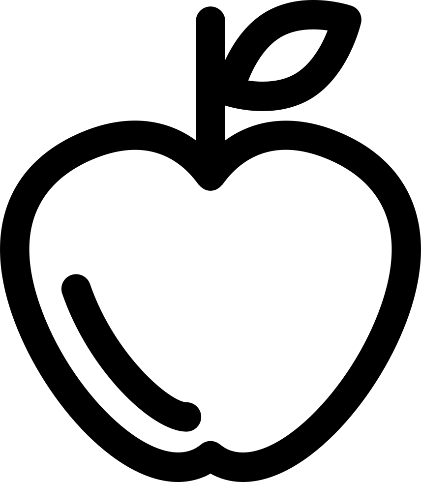 Apple outline png. Svg icon free download