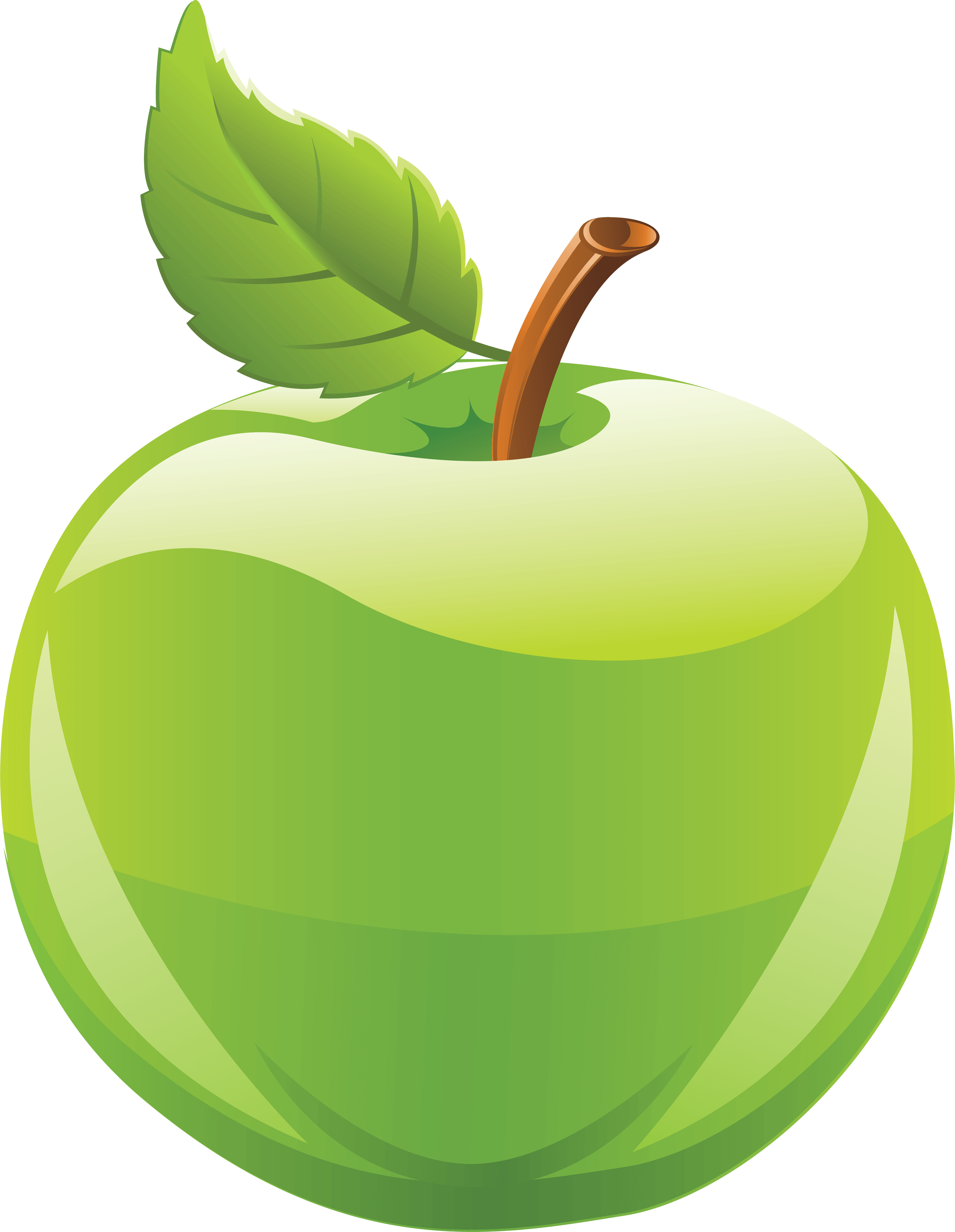 Apple png clipart. Green image