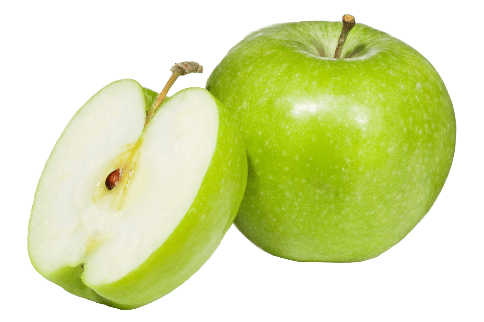 Apple open slice transparent. Green apples png vector black and white