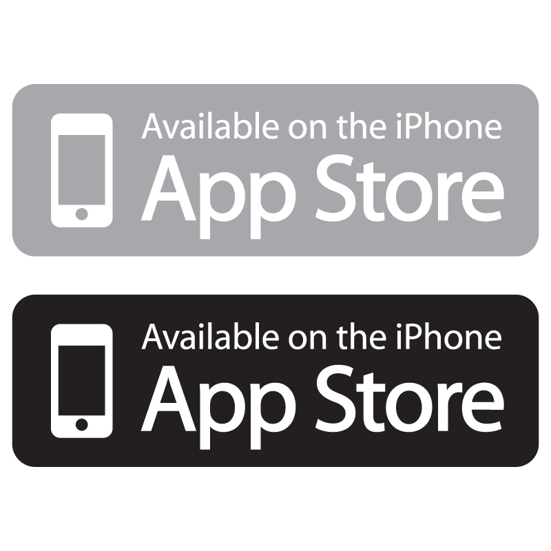 Available vector logo. Download on the app store button png clip library library