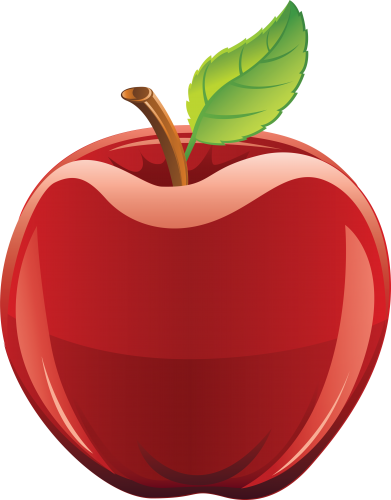 Apple vector png. Red eighteen isolated stock