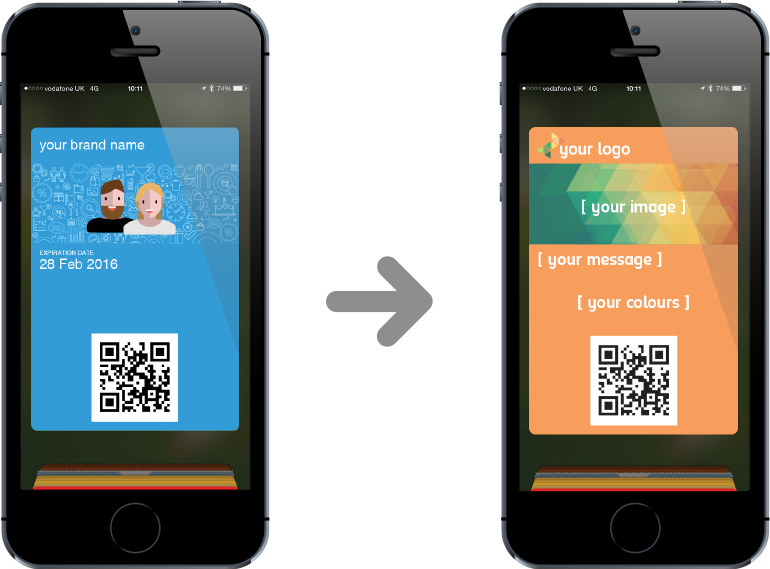 Apple wallet pass png. Personalised branding for passes
