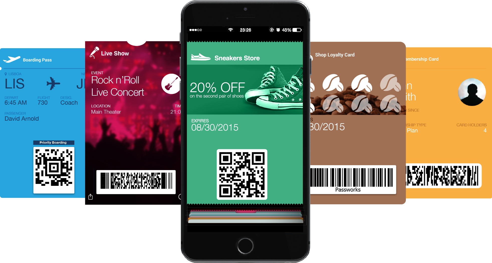 Apple wallet pass png. Passworks mobile marketing engagement