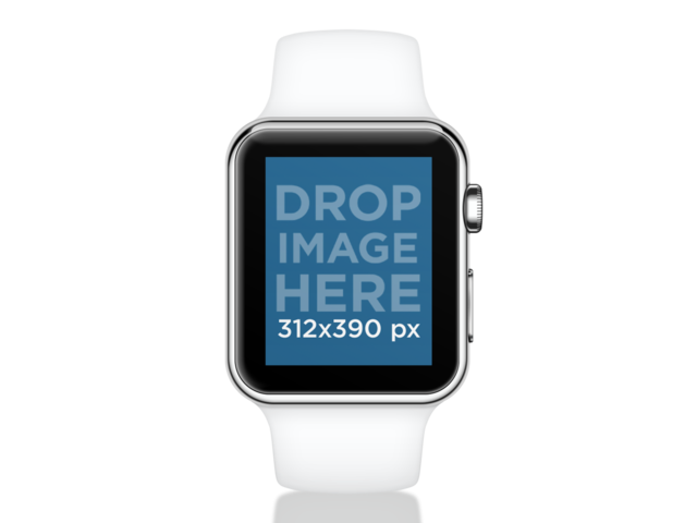 Apple watch png. Placeit white sport over