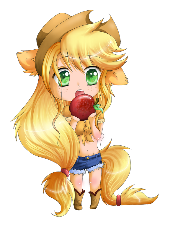 Applejack drawing human. By lulu fly on