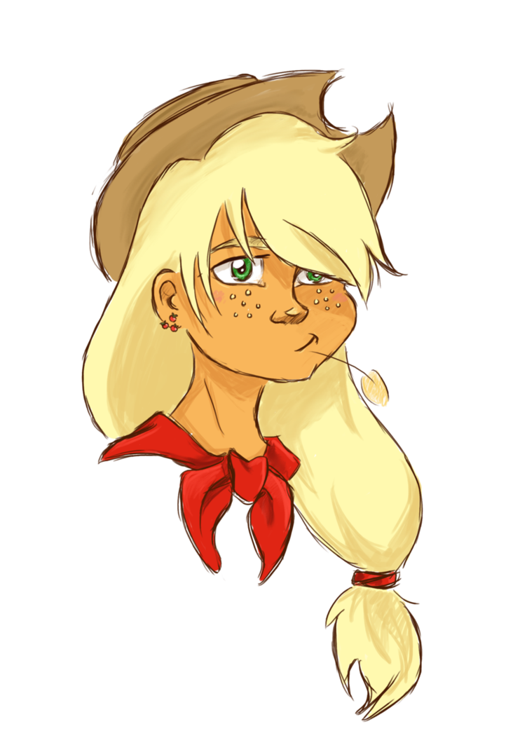 Applejack drawing human. Quick by tite pao