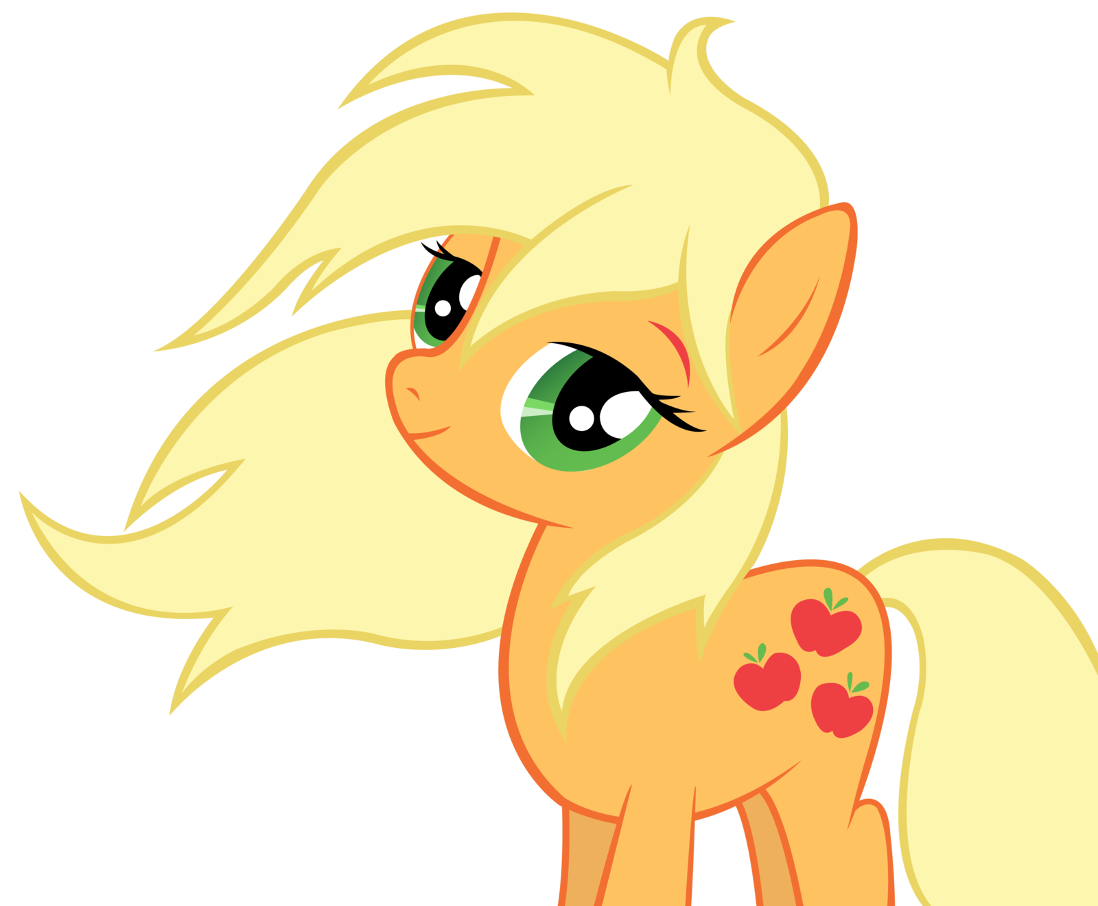 Applejack drawing realistic. Looks so pretty with