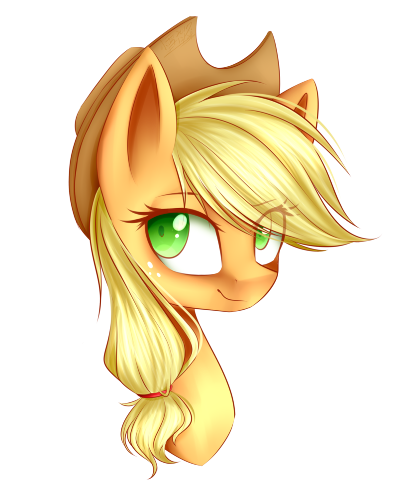 Applejack drawing traditional. By snowbunny on deviantart