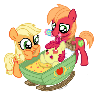 Applejack transparent baby. Image and big macintosh