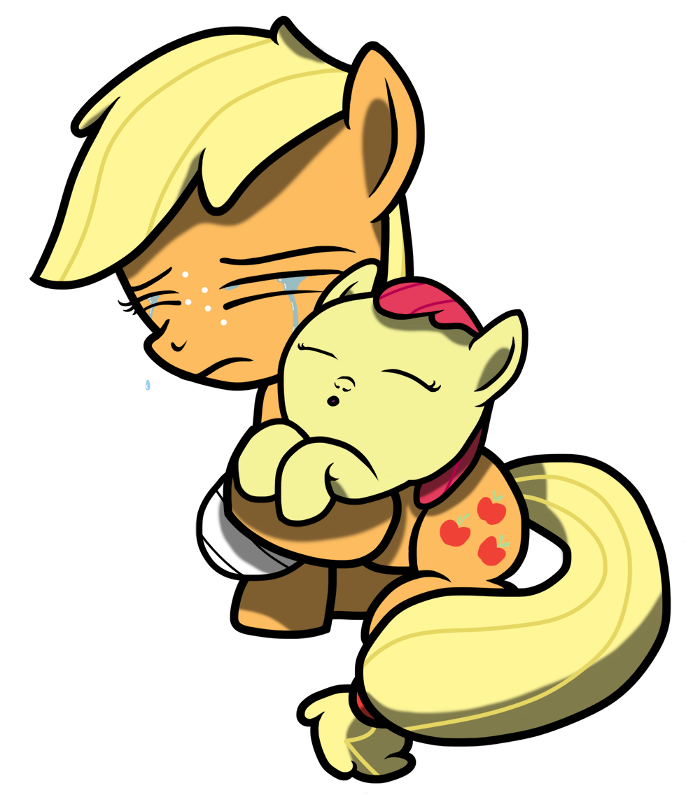 Applejack transparent baby. Apple bloom artist