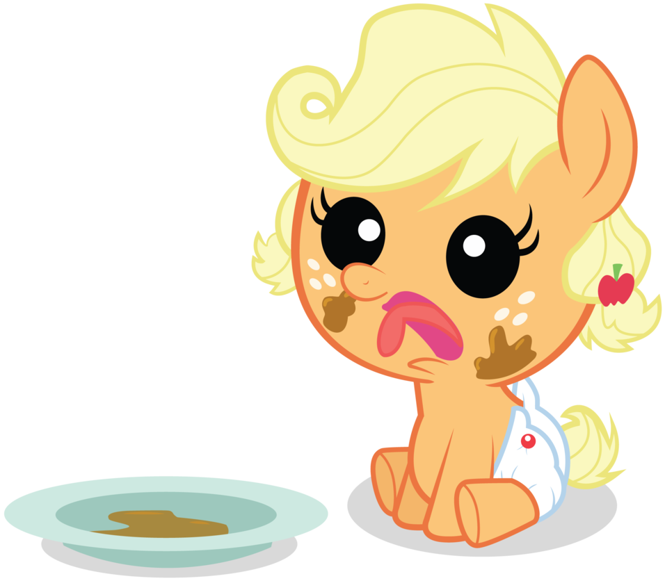 Applejack transparent baby. By fetchingmedia on deviantart