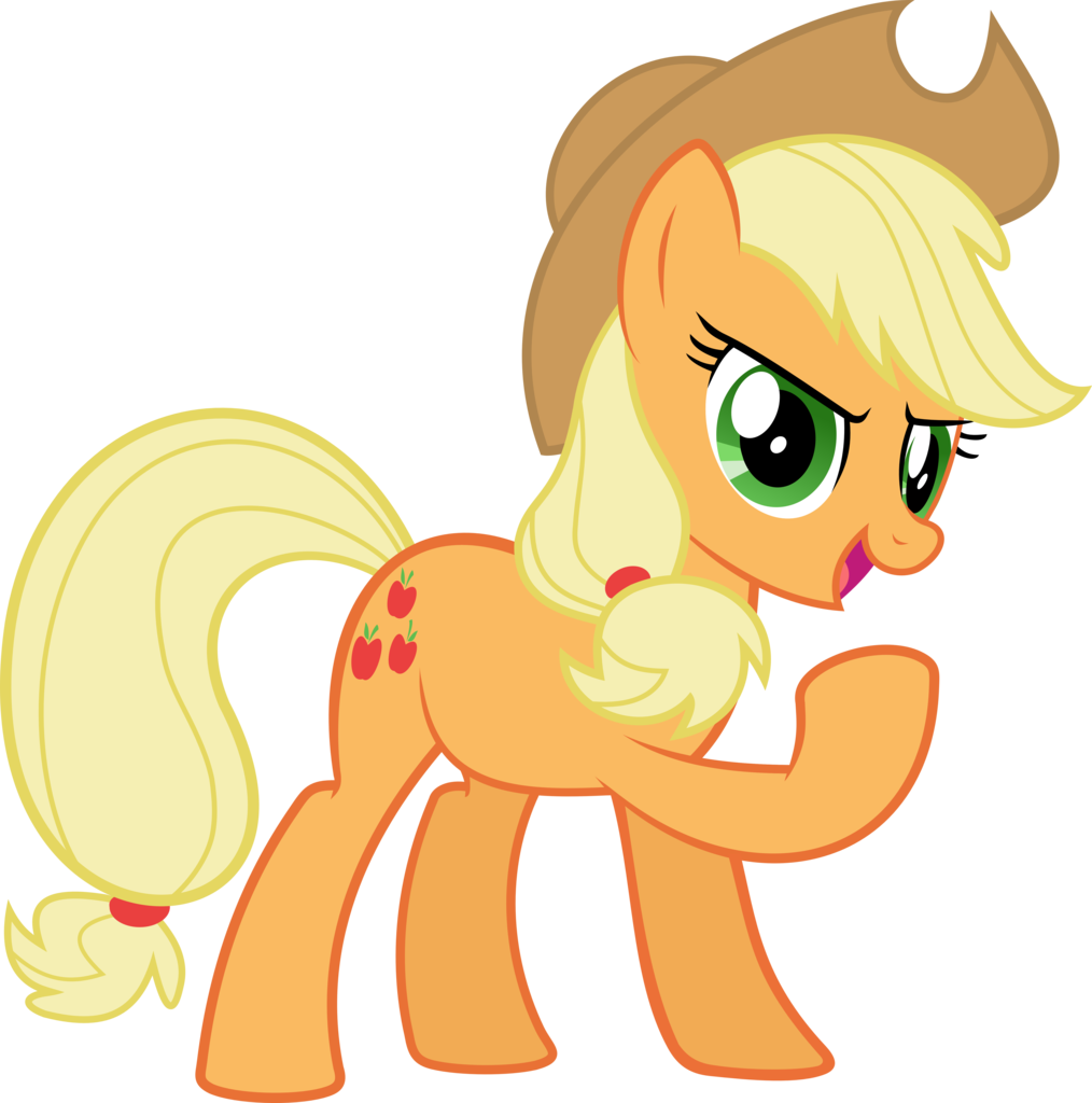 applejack transparent confident