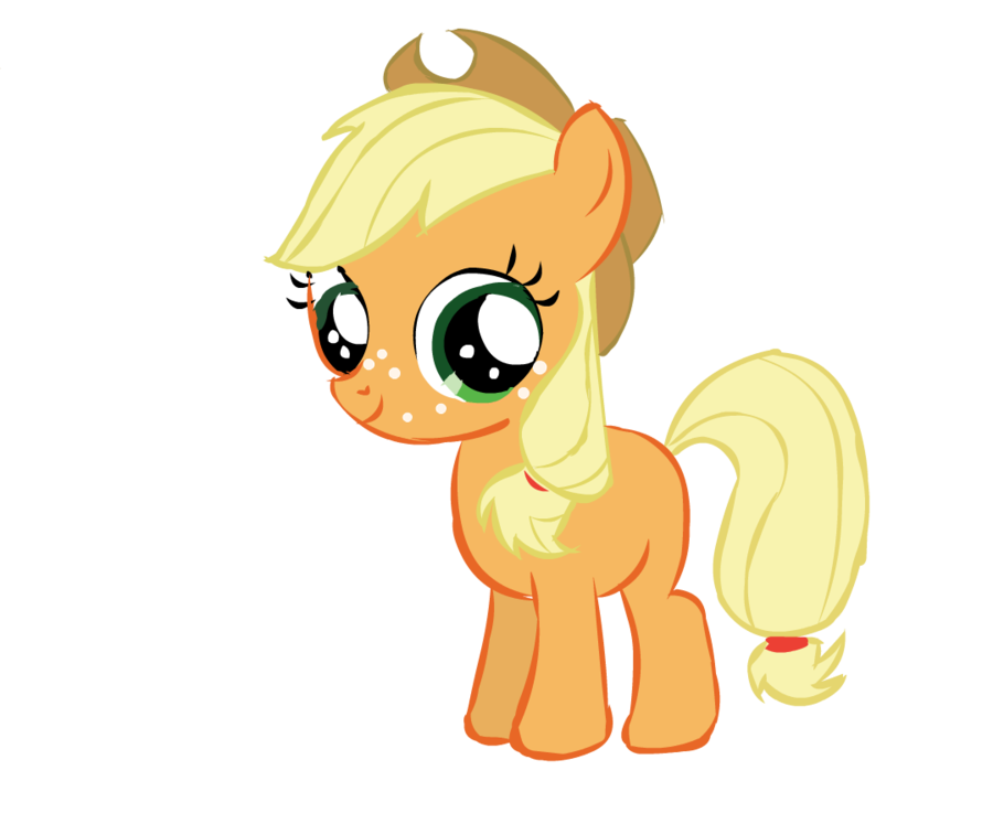 Applejack transparent filly. D aww by dragoflyrr
