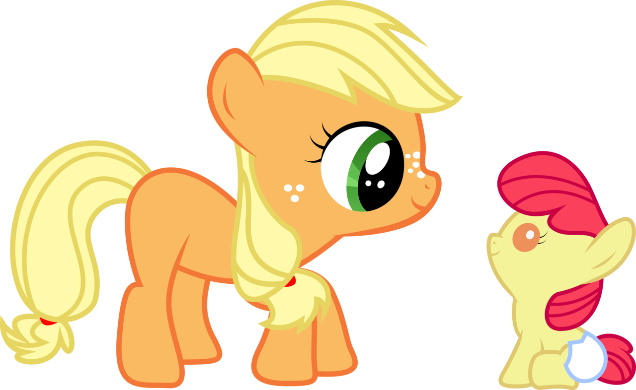 Applejack transparent baby. Absurd res apple