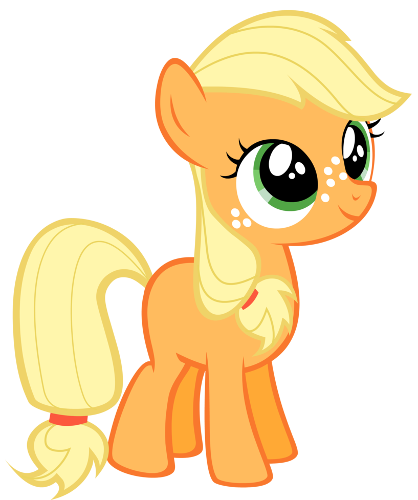Applejack transparent filly. Image png my little