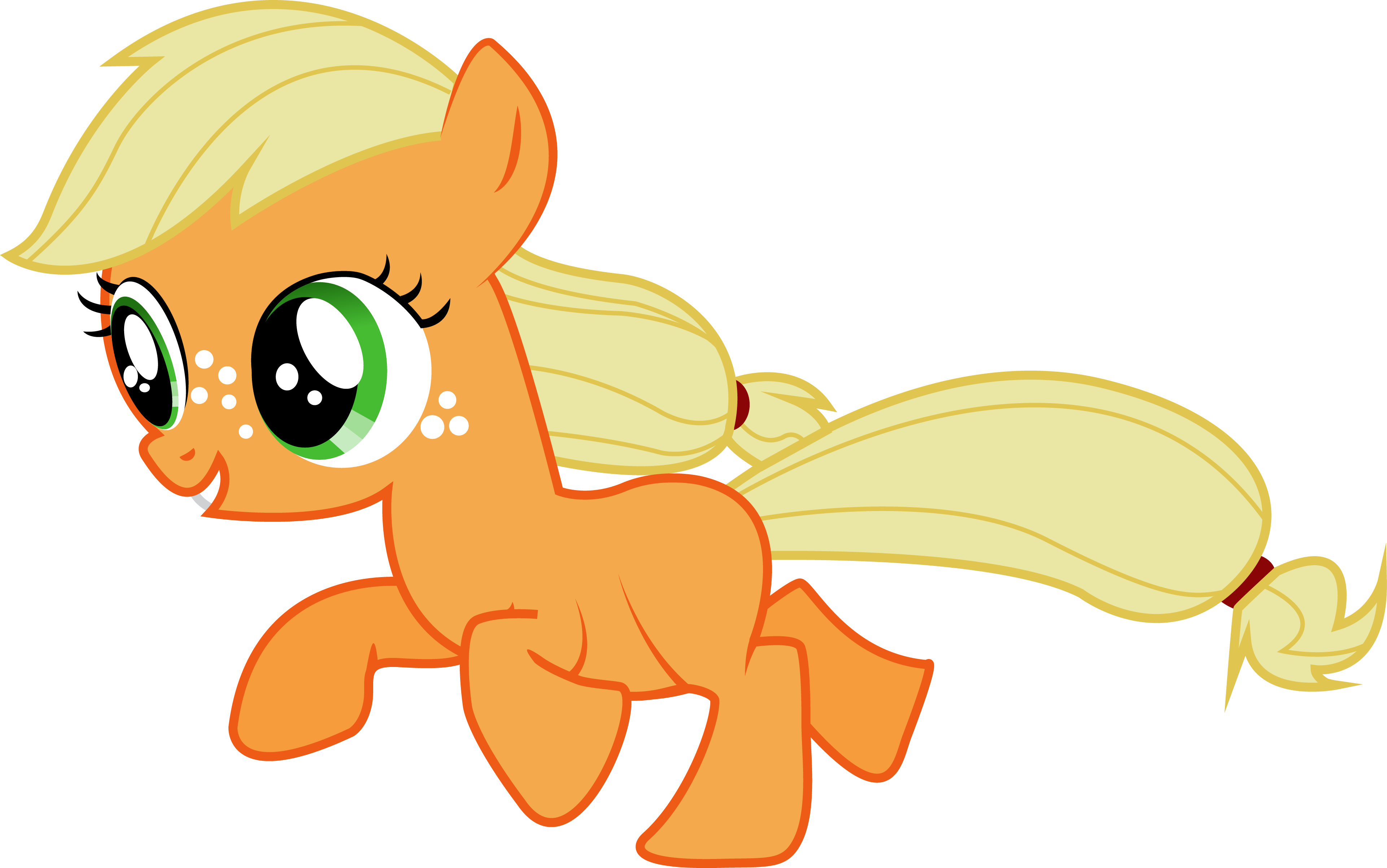 Applejack transparent filly. By silentmatten deviantart com