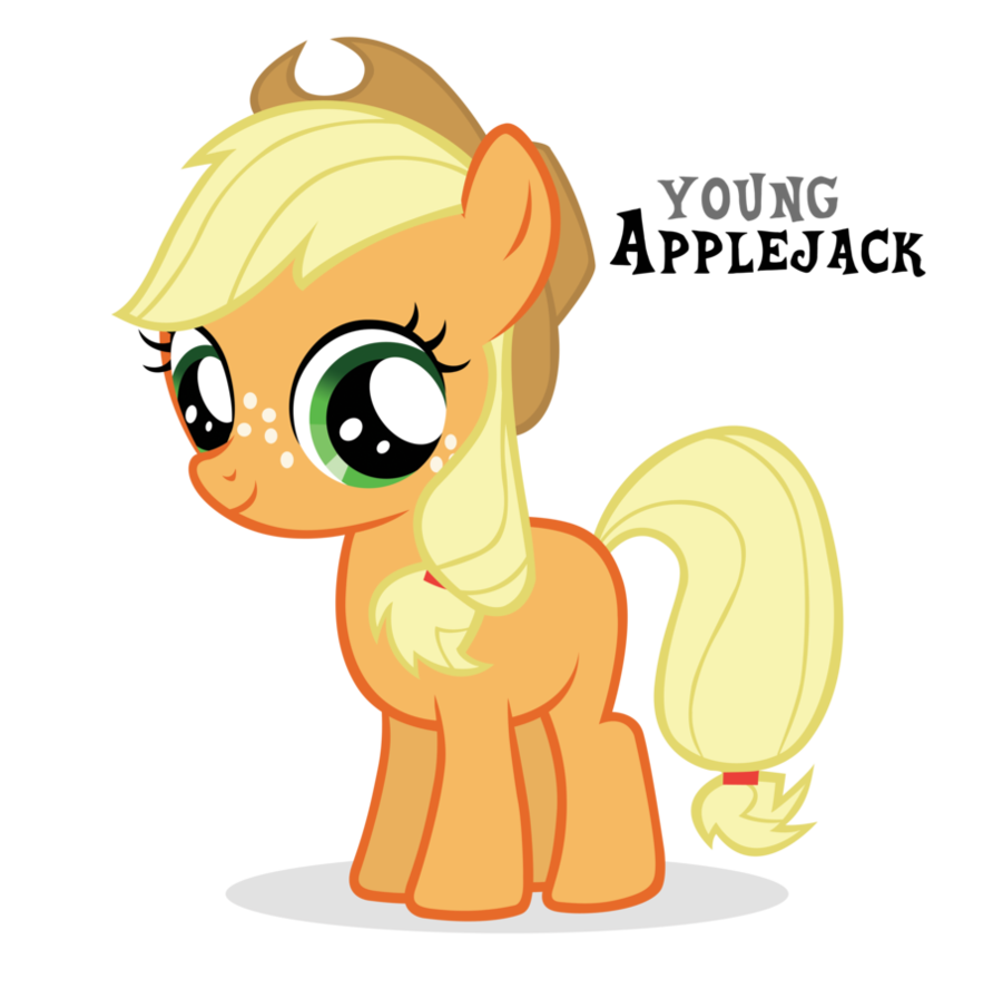 Applejack transparent filly. By blackm sh on