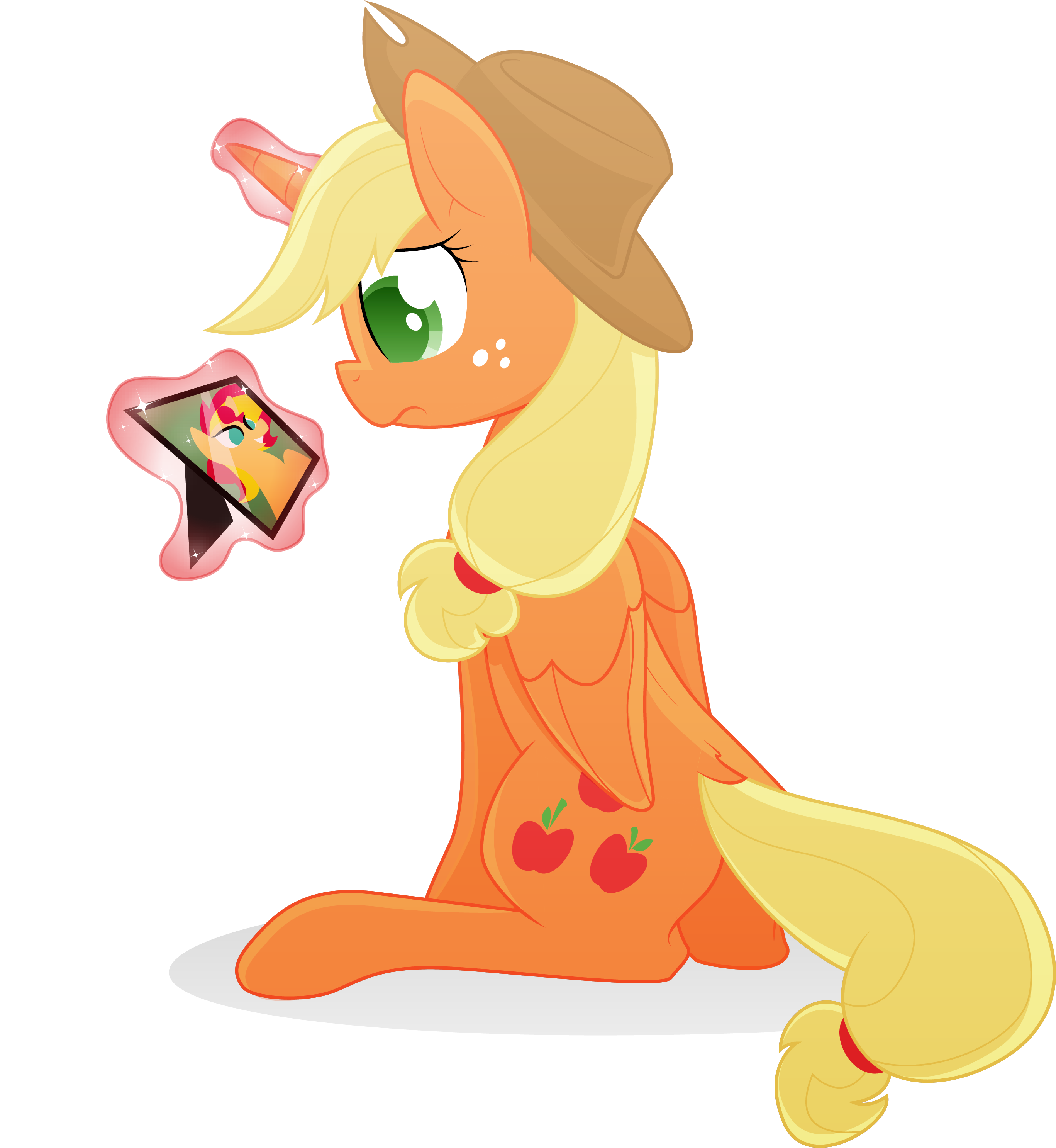 applejack transparent princess