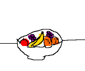 Apples bananas oranges grapes png. Bowl containing drawing by