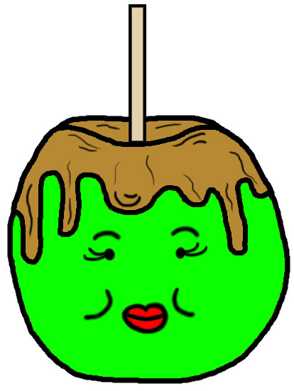 Apples clipart house. Candy apple