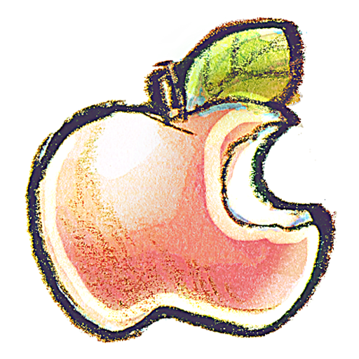 Apples drawing png. Apple icon myiconfinder dite