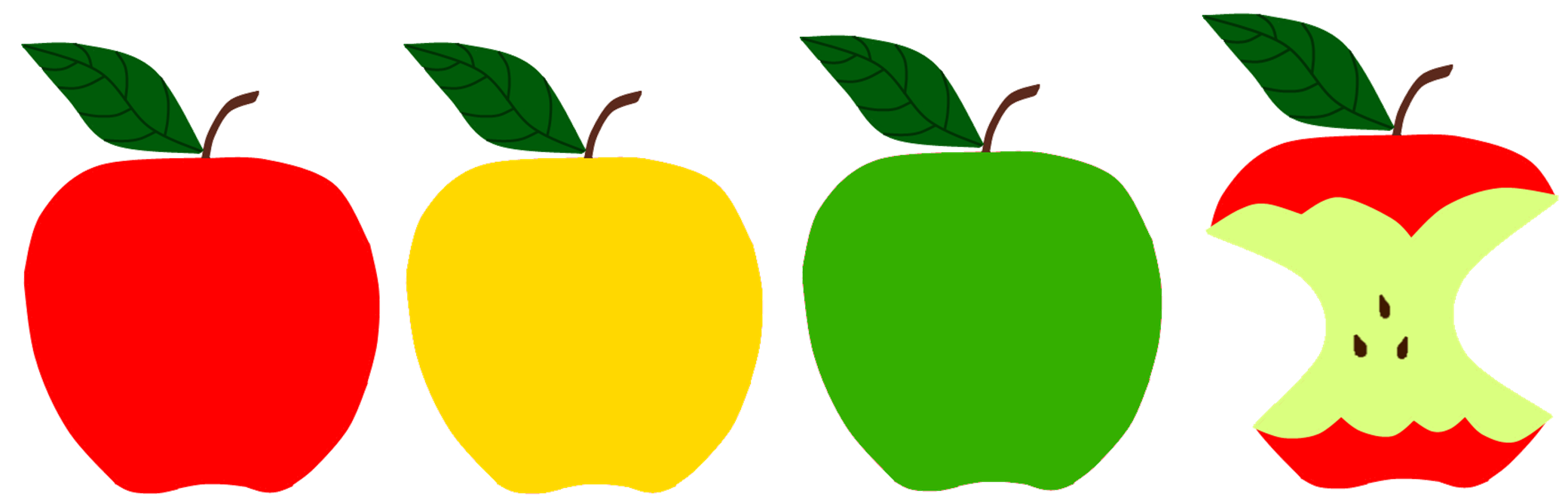 Apples falling png. Sunflower storytime red green