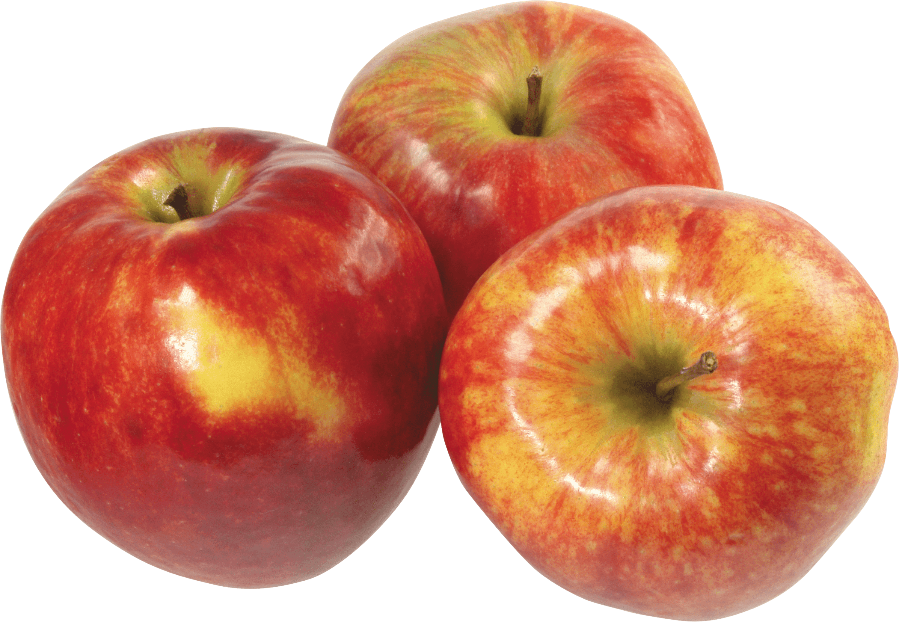 Apple .png. Three red apples transparent