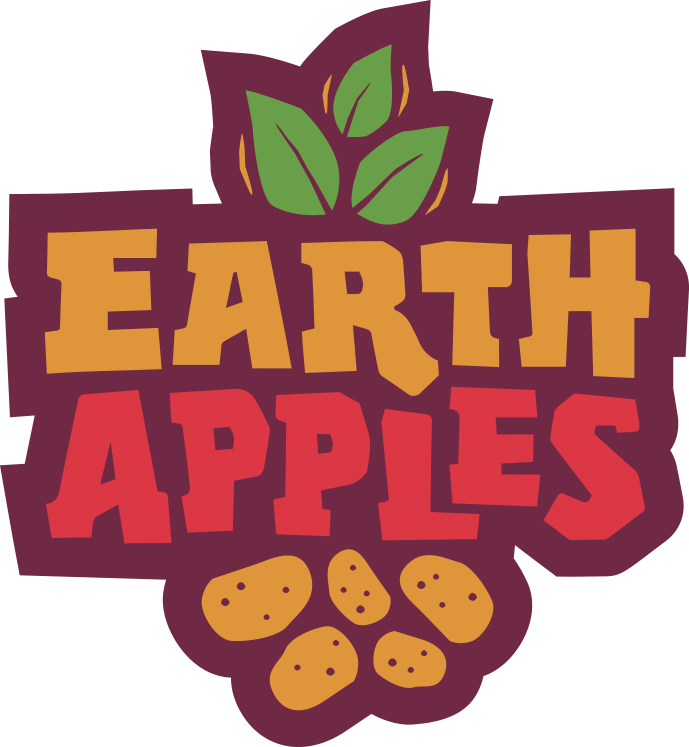 Earthapples seed potatoes canada. Apples to apples logo png black and white library