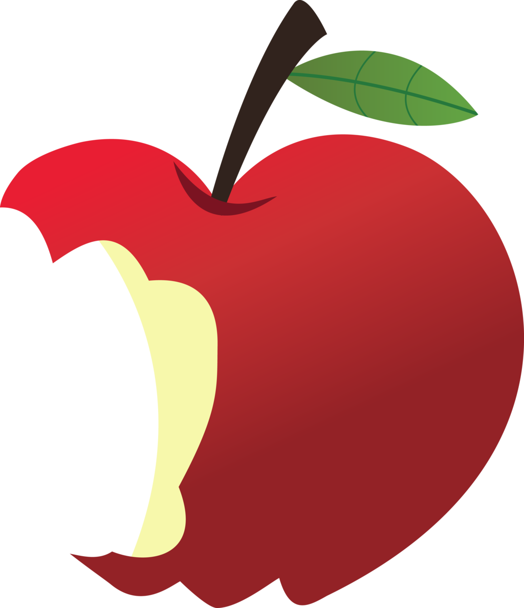 Apples vector bitten. Collection of free clipart