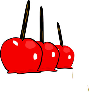 Apples vector candy. Yummy clip art at