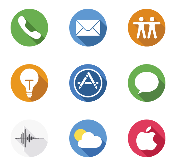 Apples vector icon. Apple icons free logos