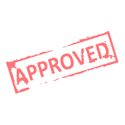 Approved stamp png. Image red md wm