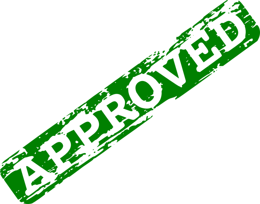 Approved stamp png. Green free images toppng