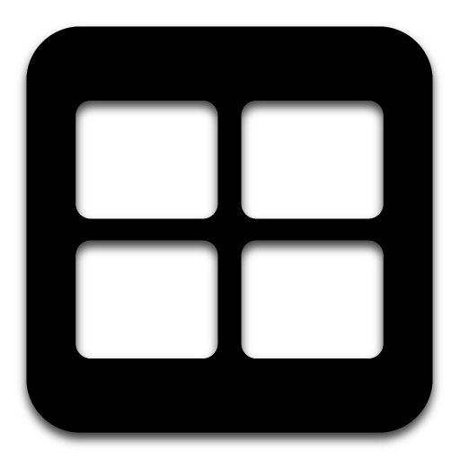 Apps icons png. App spaces icon black