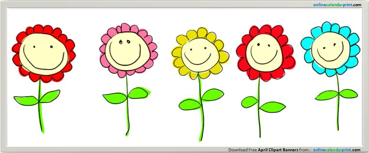 April clipart. Banners free flower