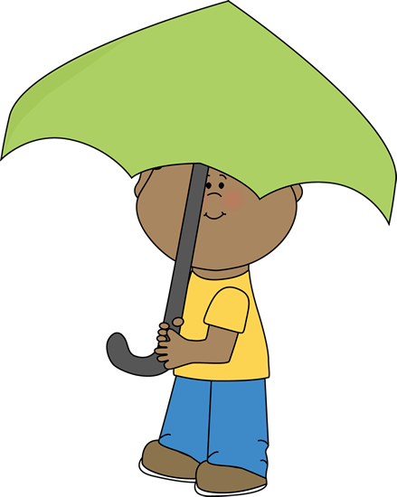 Umbrella clip clipart. Art images boy under
