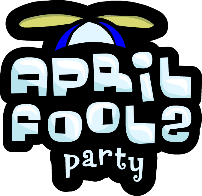 Party club penguin wiki. April Fools 2010 Logo jpg library download