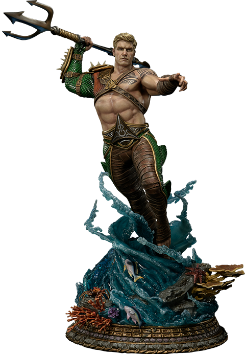 Aquaman injustice png. Scale statue by prime